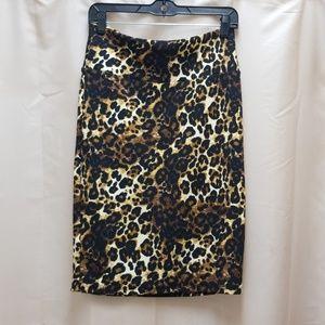 Lularoe Unicorn Leopard Print Cassie Skirt M